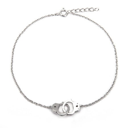Handcuff Sterling Silver Anklet | Eve's Addiction