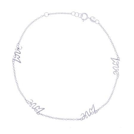 Sterling Silver Love Anklet | Eve's Addiction®