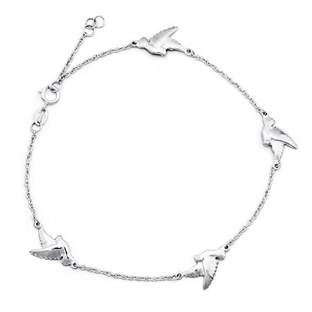 Dove Sterling Silver Anklet | Eve's Addiction®