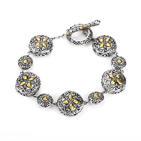 Designer Inspired Renaissance Style Circle Link Bracelet | Eve's Addiction®