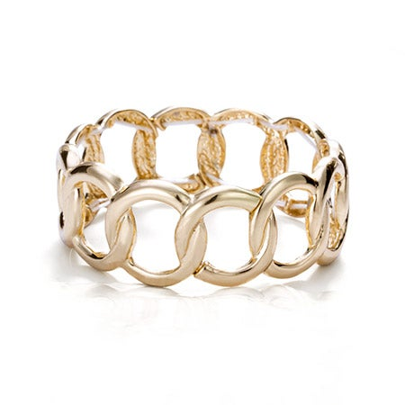 Gold Chain Link Style Bangle Bracelet | Eve's Addiction®