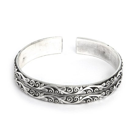 Double Row Vine Design Bali Cuff Bracelet | Eve's Addiction®