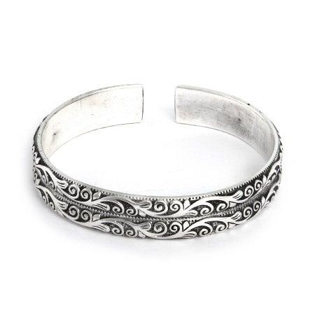 Double Row Vine Design Bali Cuff Bracelet | Eve's Addiction®