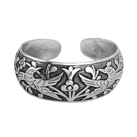 Loving Doves Wide Bali Cuff Bracelet | Eve's Addiction