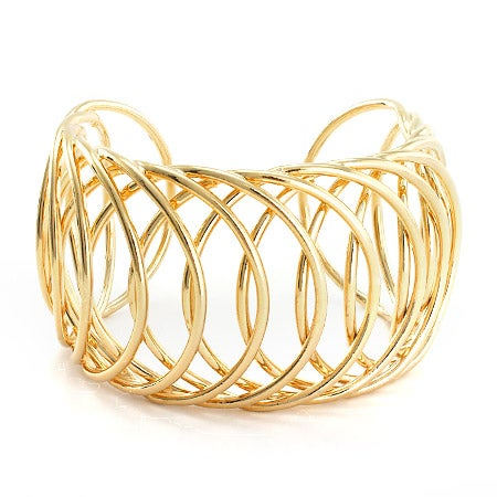 Interlaced Gold Cuff Bracelet | Eve's Addiction®