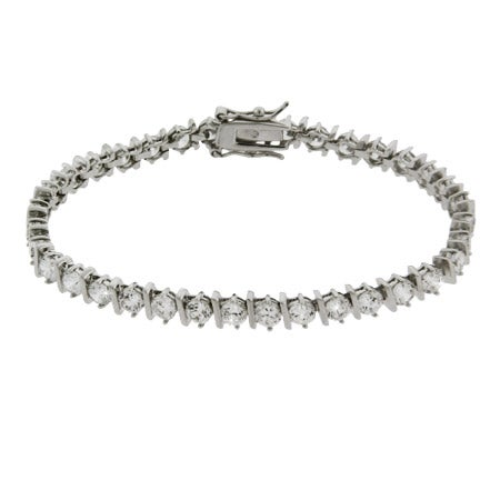 Brilliant Cut Banded CZ Tennis Bracelet | Eve's Addiction®