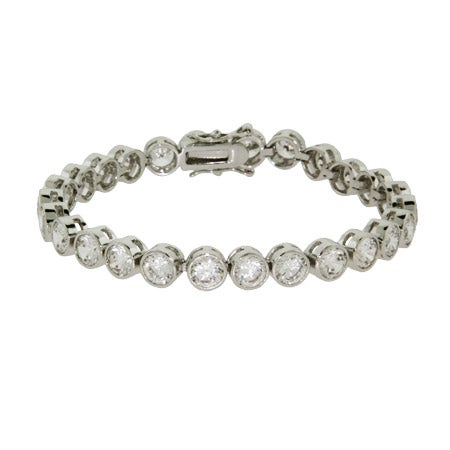 Sparkling Bezel Set CZ Bracelet | Eve's Addiction®