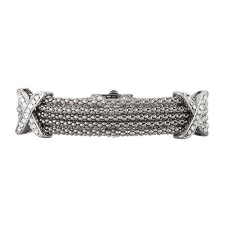 Multi Strand Popcorn Chain CZ X Bracelet | Eve's Addiction®
