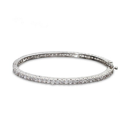 Slim Cubic Zirconia Bangle Bracelet | Eve's Addiction®