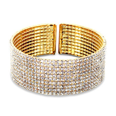Stunning Gold Cubic Zirconia Bracelet | Eve's Addiction®