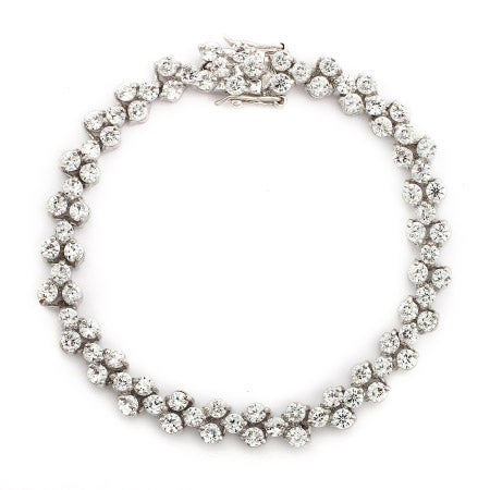 Tennis Bracelet Round Cut Cubic Zirconia | Eve's Addiction