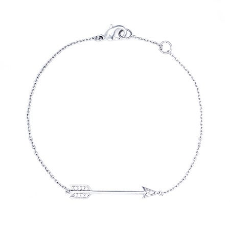 Designer Inspired CZ Sideways Arrow Bracelet | Eve's Addiction®