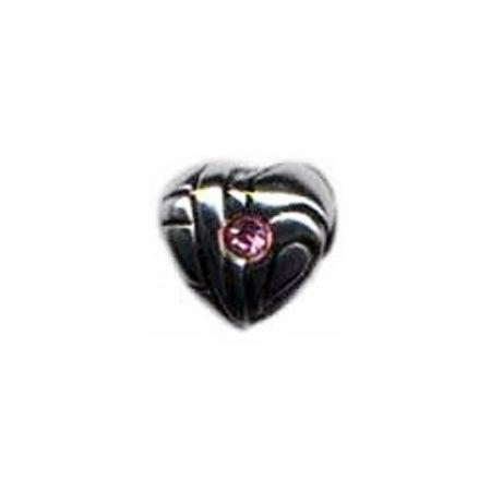 Pink CZ Heart Oriana Bead