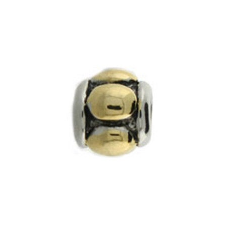 Gold Raised Oval Barrel Bead