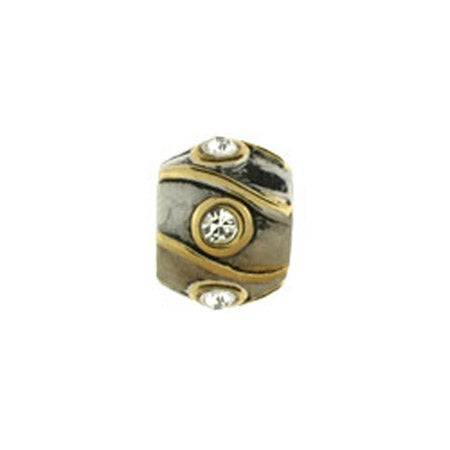 Diamond Striped Barrel Bead