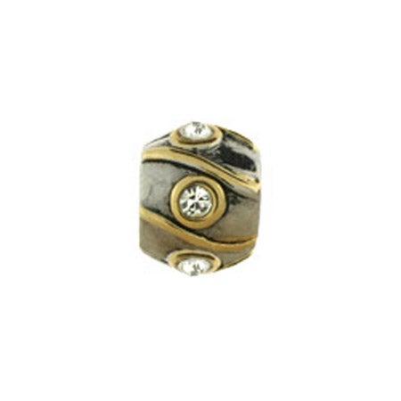 Diamond Striped Barrel Bead