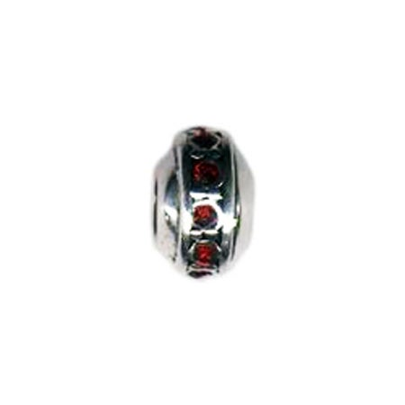 Rondell Birthstone January Bead