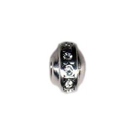 Rondell April Birthstone Bead