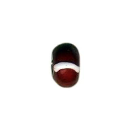 Garnet Enamel Bead