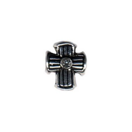 Diamond Lined Cross Bead
