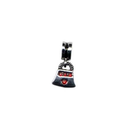 Dangling Red CZ Purse Bead