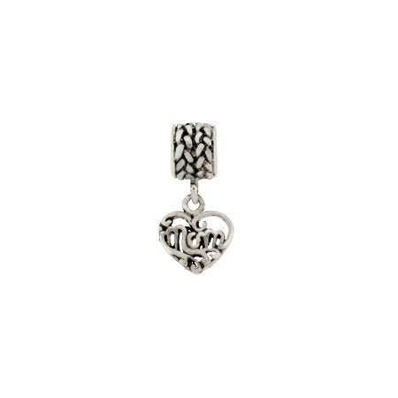 Dangling Mom Vintage Heart Bead