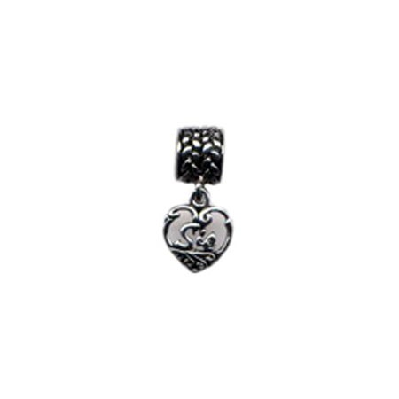 Dangling Sis Vintage Heart Bead