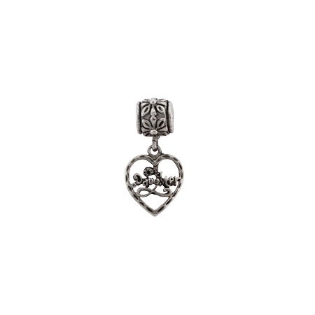 Dangling Daughter Heart Bead