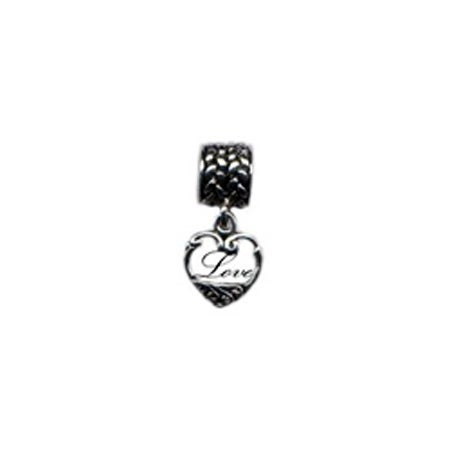Dangling Love Heart Bead