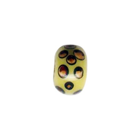 Coffee Beans Enamel Bead