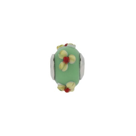 Blue Flower Glass Bead