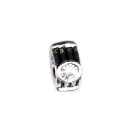 Diamond Bezeled CZ Bead