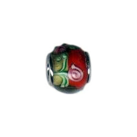 Field of Roses Glass Oriana Bead