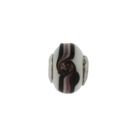 Latte Mocha Swirl Glass Bead | Pandora Compatible Beads