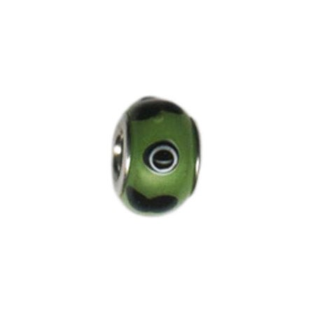 Green Eye Glass Bead
