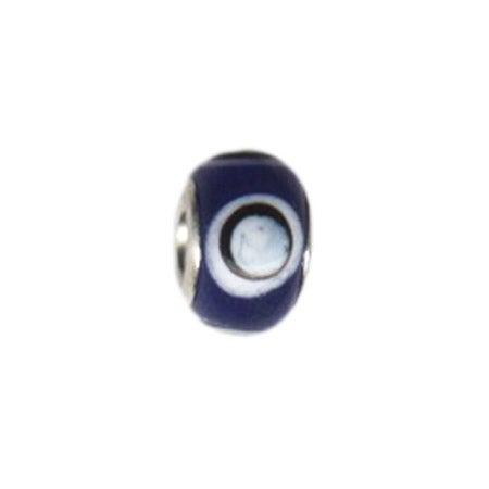 Blue Moon Glass Bead