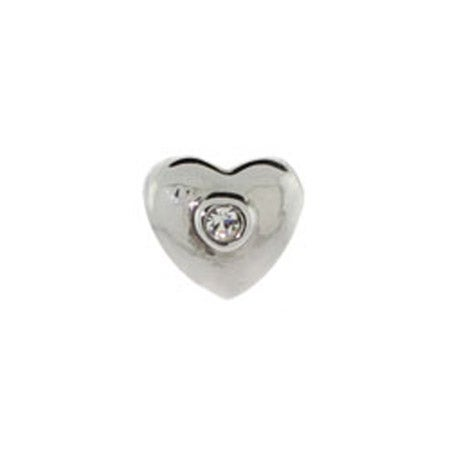 Diamond CZ heart Jewelry Bead | Eve's Addiction Beads