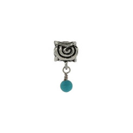Dangling Scroll December Bead | Pandora Compatible Beads