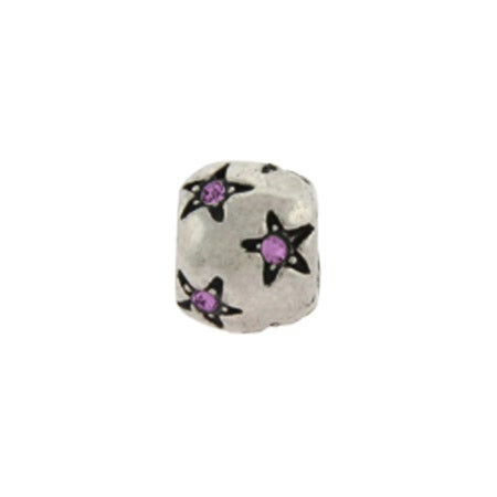 Purple Stars June Birthstone Bead