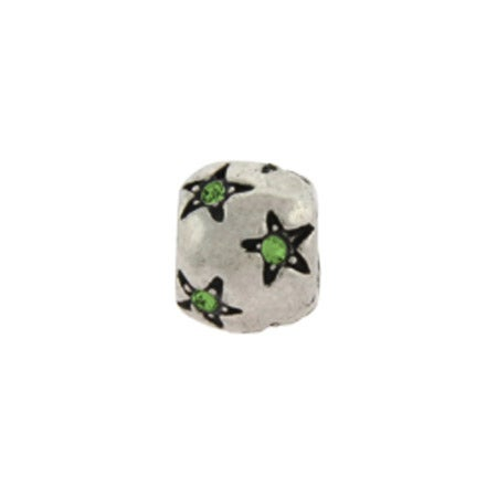 Peridot Stars August Birthstone Bead