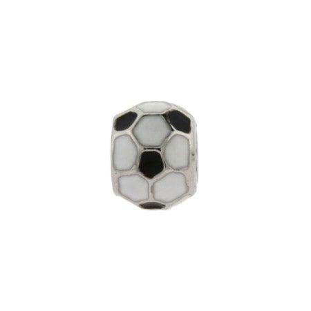 Enamel Soccer Ball Bead