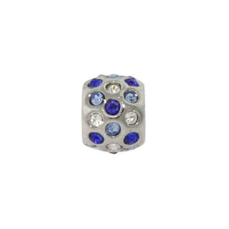 Shades of Blue CZ Bezel Bead | Pandora Compatible Bead