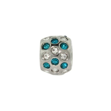 Blue And White Cubic Zirconia Bead | Eve's Addiction
