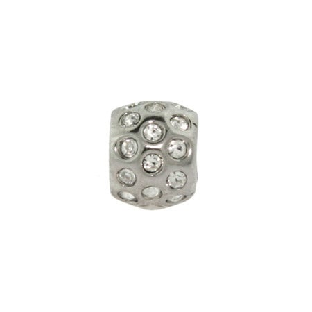 Round White Cubic Zirconias Bead | Eve's Addiction Bead