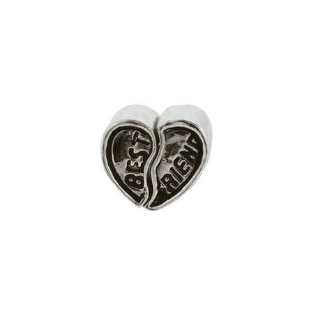 Heart Best Friends Bead | Best Friends Heart Charm