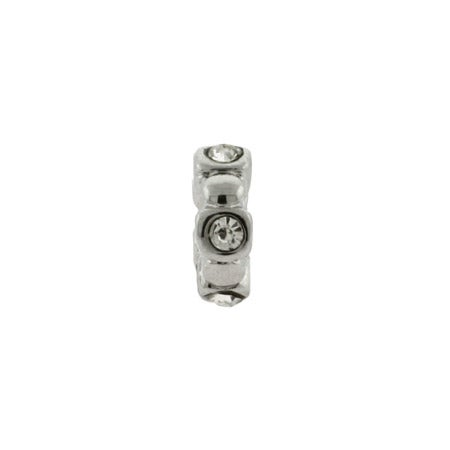Thin CZ Spacer Bead