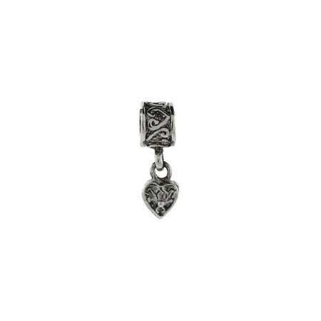 Dangling Heart Vintage Bead | Hanging Heart Vintage Bead