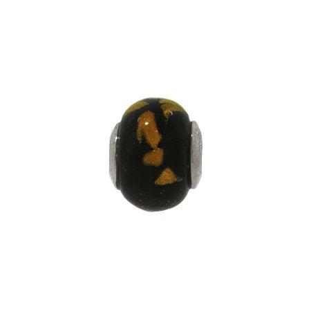 Golden Black Night Glass Bead