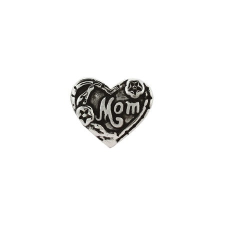 Mom Heart Shaped Bead