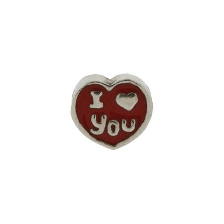 I Love You Red Heart Bead